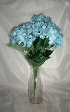 Artificial Hydrangeas 7 heads inTeal Blue with curly ting bunch free e