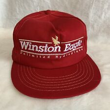 Vintage Winston Eagle Unlimited Hydroplane Red Hat 1989 Signed Larry Lauterbach