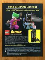 Lego Batman Xbox 360 Console Contest Print Ad/Poster Official Promo Art Joker