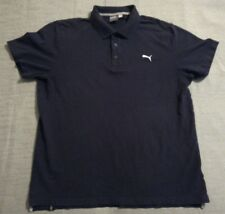 Puma Mens Polo Shirt Size Extra Large XL Navy Blue Golf Rugby 2 Button Casual