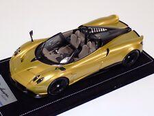 1/18 Looksmart MR Pagani Huayra Roadster in Gold Alcantara base