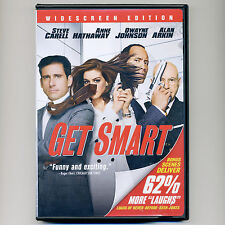 Get Smart 2008 PG-13 comedy spy spoof movie, new DVD Carell, Hathaway, Johnson