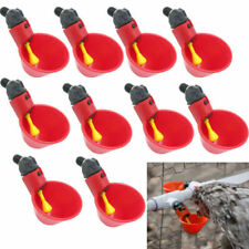 1-20Pcs Chicken Poultry Water Drinker Cup Coop Bowl Automatic Pigeon Farm Feeder