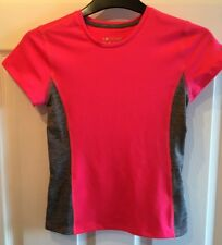"GIRL'S PINK&GREY SHORT SLEEVED BREATHABLE EXERCISE TOP BNWT,""AGE8/9""SOULUXE."