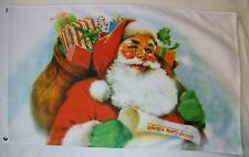 Santa Claus With A Bag Of Gifts For Good Girls And Boys Flag 3' X 5' Xmas Banner