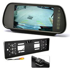 "7"" Inch Mirror Monitor Screen + Car Numberplate Reverse Parking Camera Kit"