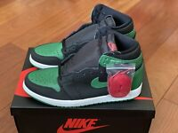 Nike Air Jordan 1 Retro High OG Black Pine Green 555088-030 Men Size 10.5 New