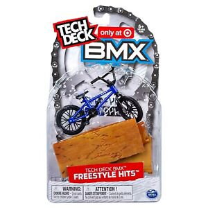 TECH DECK BMX Freestyle Hits CULT Blue Finger Bike + Ramp Obstacle Target Excl