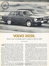 1976 Volvo 242DL  Road Test  Original Car Review Print Article J626