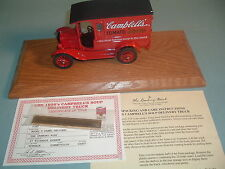 1925 CAMPBELL'S SOUP DELIVERY TRUCK DANBURY MINT DIECAST 1:24 WITH DISPLAY CASE