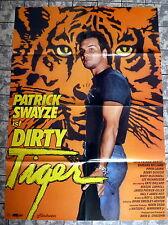 PATRICK SWAYZE * DIRTY TIGER - A1-FILMPOSTER - German 1-Sheet ´88 TIGER WARSAW