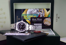 ROLEX Men's Platinum 39mm Masterpiece Black Diamond Z Engraved 18946 SANT BLANC