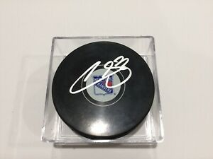 Filip Chytil Signed NY New York Rangers Hockey Puck Autographed d