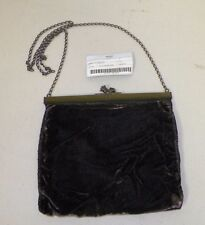 WOMAN'S PRADA BLACK GRAFITE VELVET EVENING BAG MADE IN ITALY GOOD COND