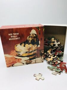 Vintage Springbok Mini Jigsaw Puzzle Hound Dog Was Today Really Necessary
