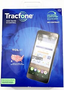 TRACFONE - TCL A1 - Black Android 16GB NEW No Contract Phone