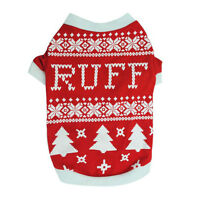 Christmas Trees Print Small Dog Clothes Winter Warm Puppy Shirt Chihuahua Coat