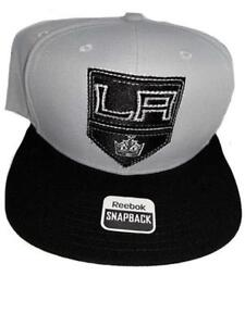 New Los Angeles Kings Mens OSFA Snapback Flatbrim Reebok Gray Cap Hat