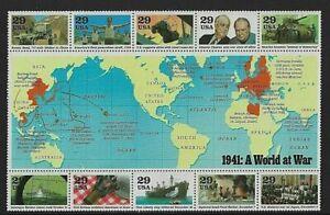 US Scott 2559 World War II: 1941: A World at War MNH OG VF