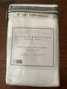 New Palais Royale Standard Pillowcases Egyptian Cotton 630 Thread Count White