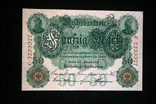 Dinero del imperio: 50 mark del febrero de 7. 1908 en top conservación ro 32 R-C