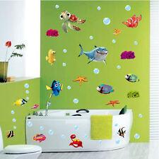 Vinyl Removable Mural Wall Sticker DIY Ocean Sea Fish  Kids Room Bathroom Decor