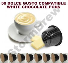 50 DOLCE GUSTO COMPATIBLE WHITE HOT CHOCOLATE PODS CAPSULES: 50 DRINKS