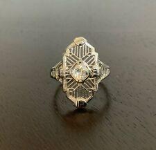 Antique 18k Art Deco, Mine Cut Diamond Ring, Size 7