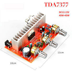 12V Tda7377 Audio Amplifier Board 40W+40W 2.0 Channel Stereo Amplificador