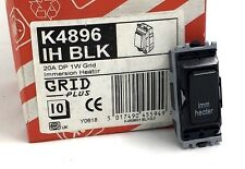 MK GRID 20A DP 1 WAY GRID BLACK IMMERSION HEATER SWITCH K4896 IH BLK