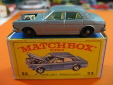 VINTAGE 60/70´S MATCHBOX LESNEY Nº53 FORD ZODIAC MK IV