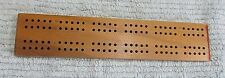 """Solid Medium Tone Wood Small 9"""" Vintage Cribbage Board FREE S/H"""