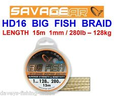 SAVAGE GEAR HD16 BIG FISH BRAID SEA COARSE PIKE COD BOAT ROD FISHING LEADER LINE