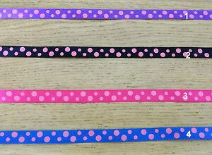 1 M Polka dot ribbon grosgrain. Gift wrapping scrapbook Hair clip bow DIY craft