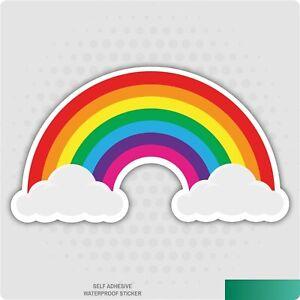 Mini Rainbow Sticker Multicoloured Vinyl Decal Car Van Laptop Sticker