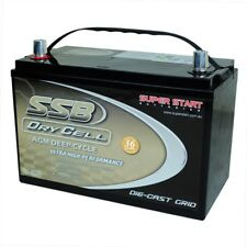 12V Deep Cycle (AGM) Battery Solar Caravan 4WD Marine 130AH 1000CCA HVT86D