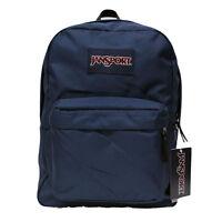 New Authentic Jansport Superbreak NAVY Backpack School Bag super break