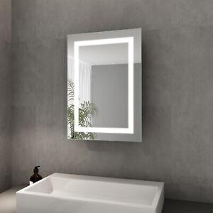 Spiegelschrank Bad mit Beleuchtung LED Badspiegel Beschlagfrei Steckdose 50x70