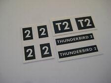 Dinky 101 Thunderbird 2  [ black ] Sticker - B2G1F