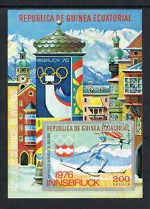 Equatorial Guinea - 1975, Winter Olympics, CTO Imperf Mini-Sheet