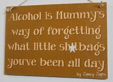 Kids Sh*tbags Sign - Mother Mummy Children Wine Beer Mom Kitchen Alcohol Bar Pub