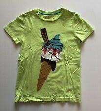 Mini Boden Boy's Ice Cream Applique Tee Shirt Top S/S Sz 7/8