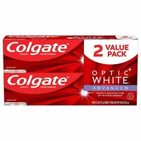Colgate Optic White Advanced Whitening Toothpaste, Sparkling White - 4.5oz, 2PK