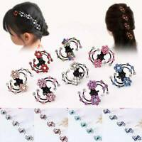 6x/Set Women's Flower Hair Clips Barrette Pins Crystal Hairpin Xmas Accessories/