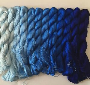 12 colors Chinese natural mulberry silk embroidery floss threads