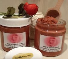 ROSE CLAY SPA Body Scrub- Dead Sea Salt, Moroccan Argan Oil Handmade SPA Uptown