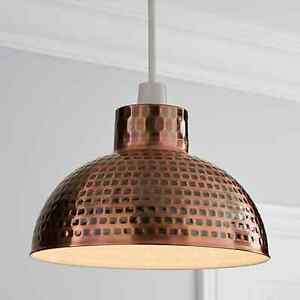 Delightful Hammered Metal Copper Easy Fit Pendant For Home Decor.