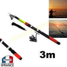 Set Canne à pêche 3m avec moulinet et fils pour bord etang mer enfant adulte