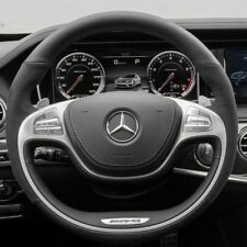 Mercedes-Benz OEM W222 S63 S63 S AMG Leather & Microfiber Heated Steering Wheel