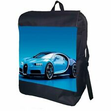Bugatti Car Backpack School Bag Travel Personalised Backpack